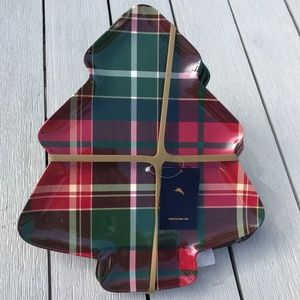 Tommy Bahama Melamine plaid Christmas Tree Plates
